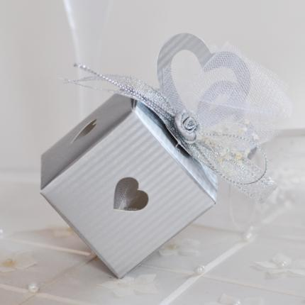 Beautiful wedding box with two hearts