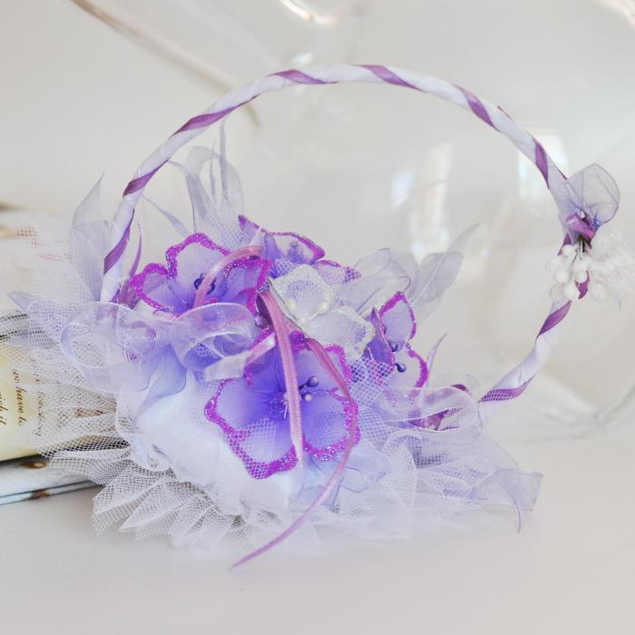 wedding rings basket with purple flowers bx004 prices