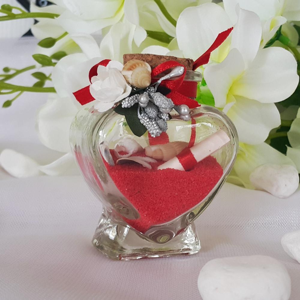 Bottle in the shape of a heart