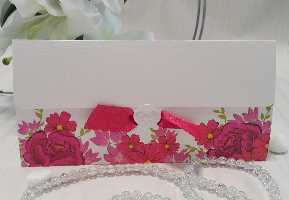 Invitations with plush satin ribbon
