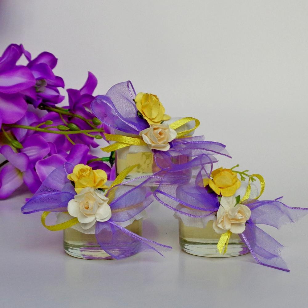 Jars with bee honey