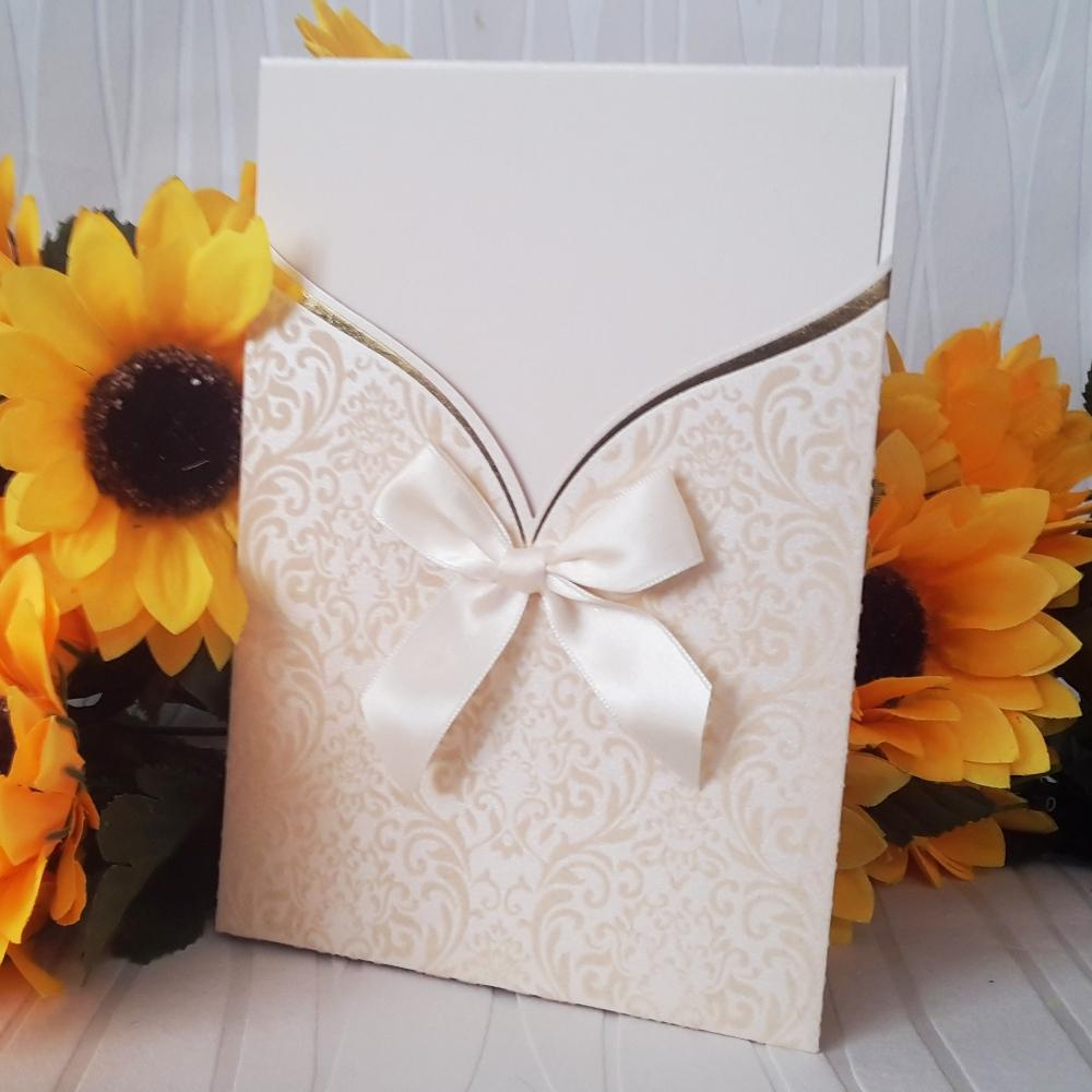 Luxury invitations from velvet cardboard with velvet elements