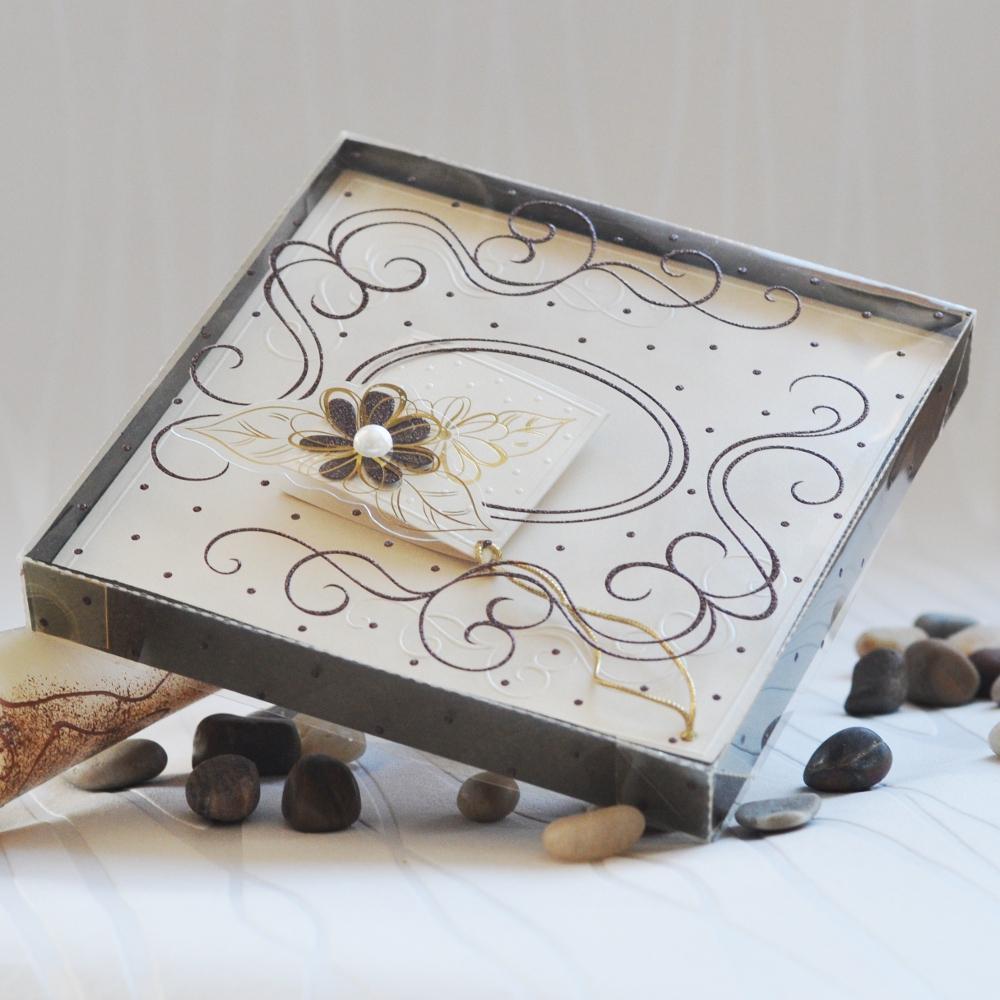 Luxury wedding invitation in a box