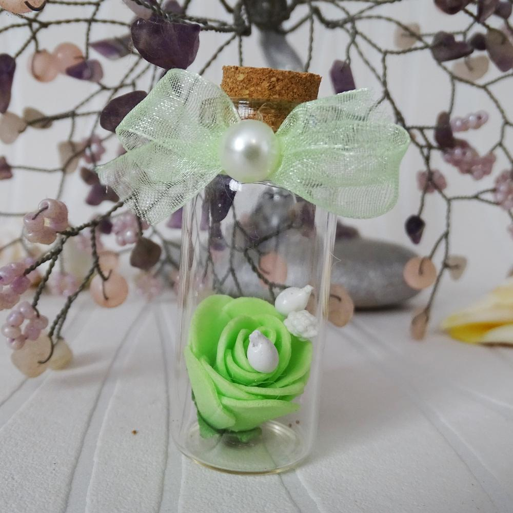 Wedding bottles with roses