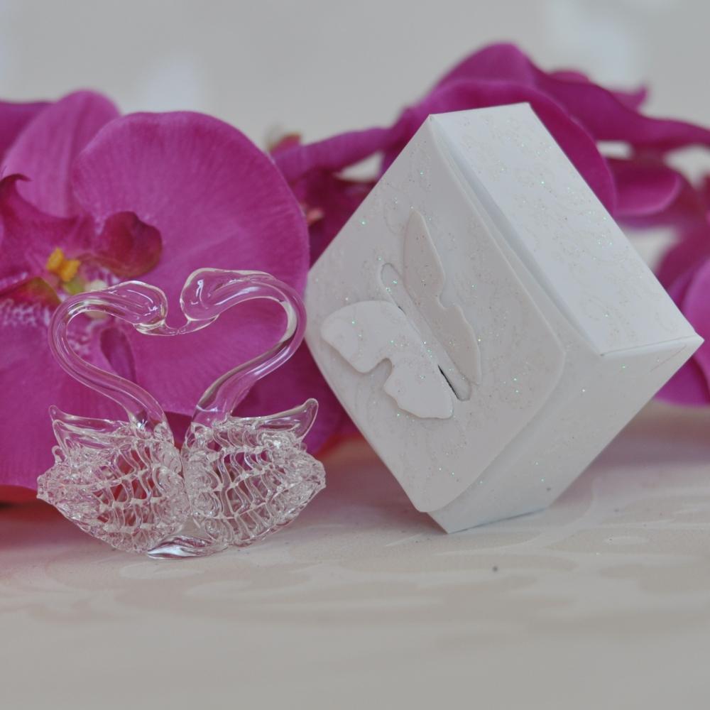 Crystal Wedding Gift: Pair Of Crystal Swans GG048