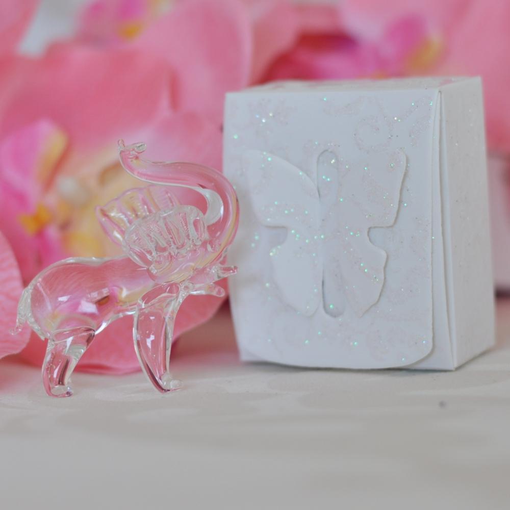 Wedding favor gift - Crystal elephant