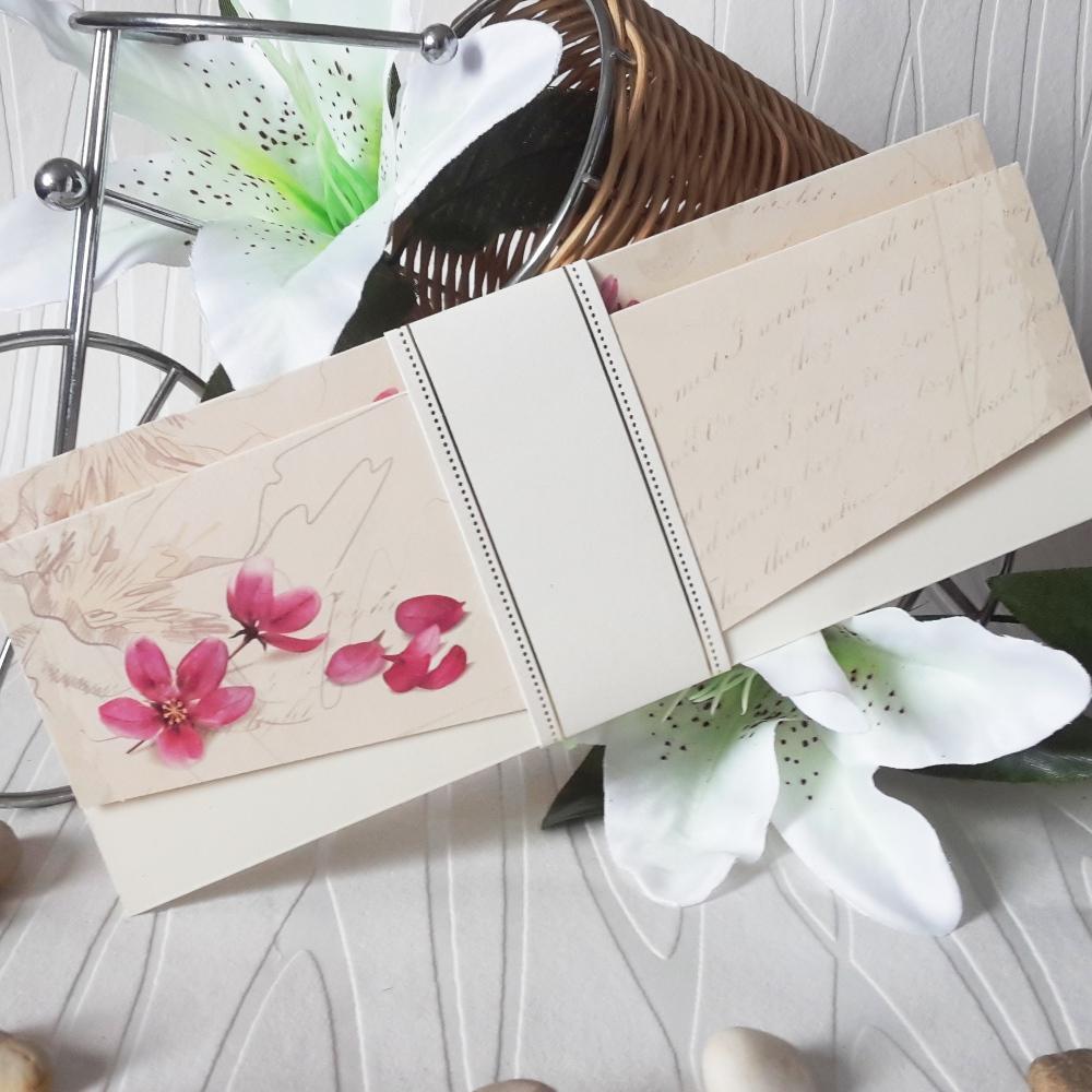 Wedding invitation with beautiful flowers