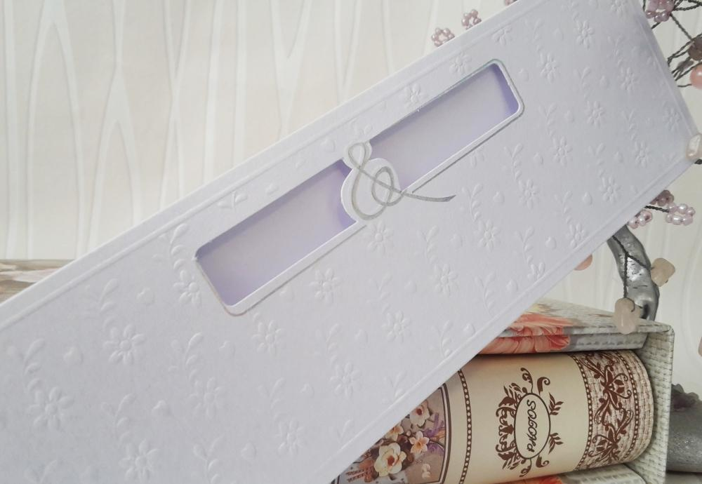 Wedding invitation with pearl paper