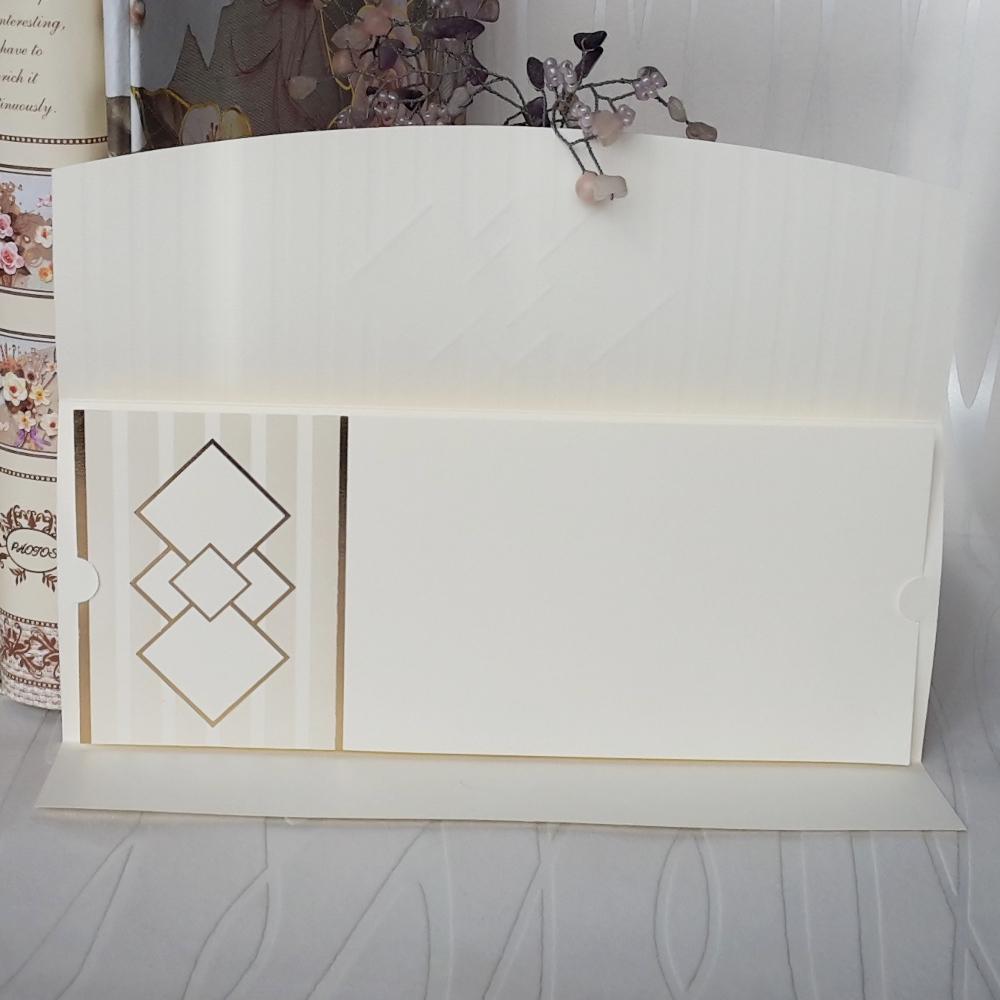 Wedding invitations in ecru color