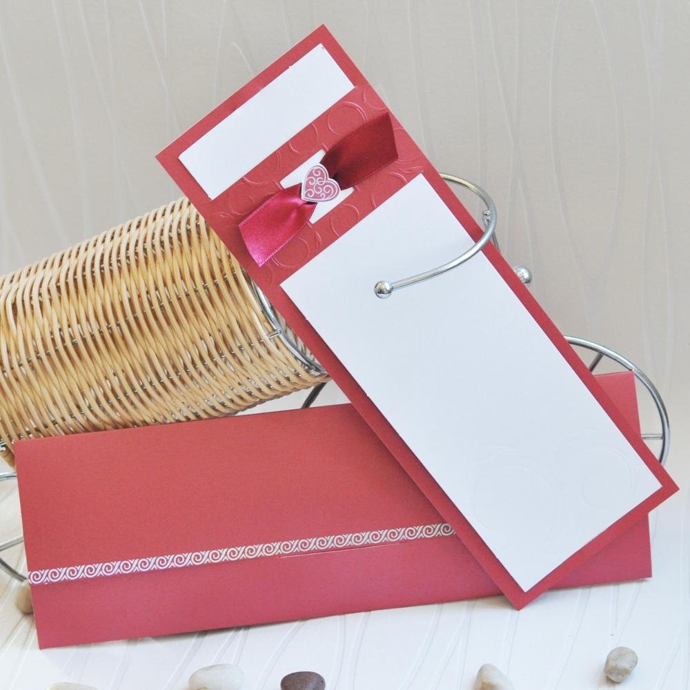 Wedding invitation in red