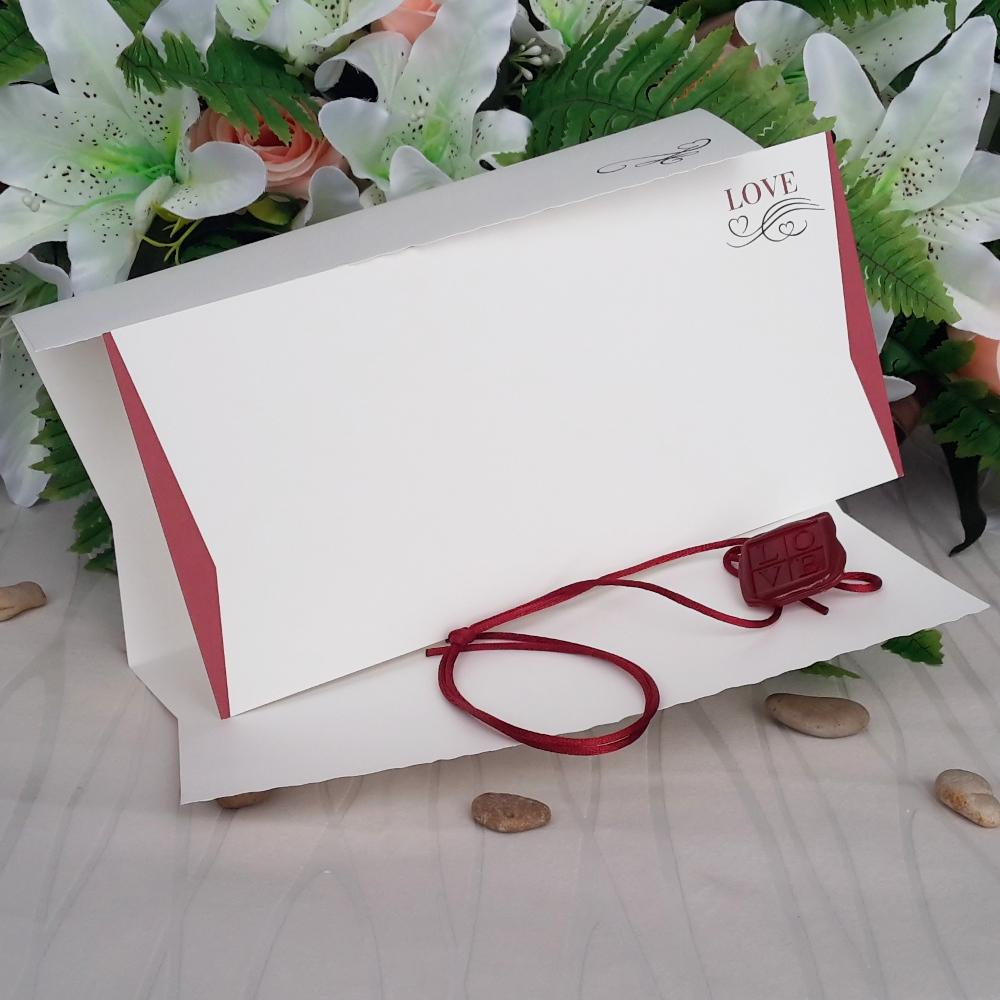 Wedding invitation with a quirky envelope
