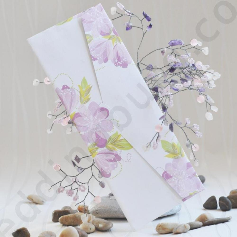 Romantic invitation with violet shade