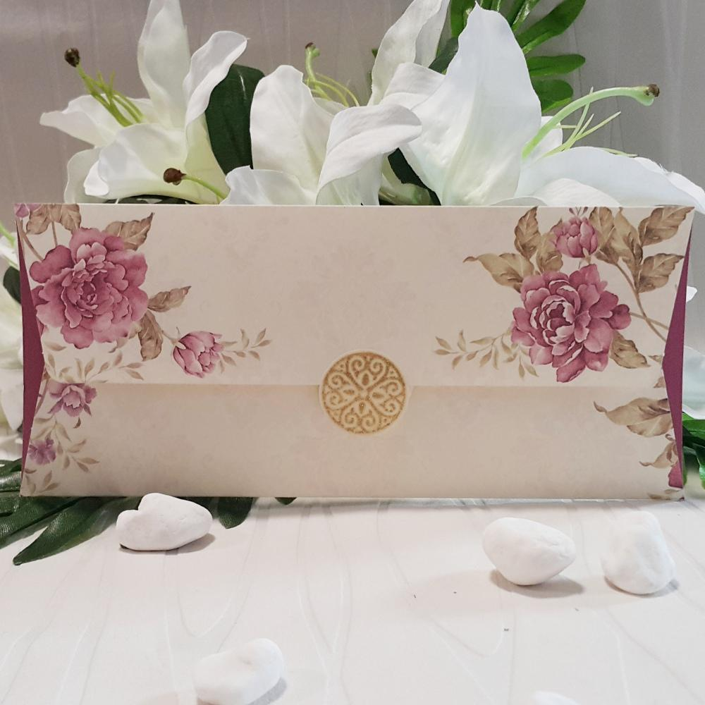 Wedding invitation with floral images