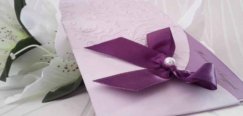 Luxurious, handmade wedding invitation