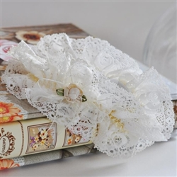Ecru Bridal garter