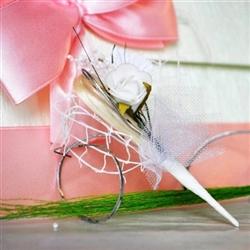 Wedding boutonniere - white rose