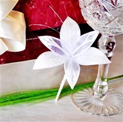 Handmade wedding boutonniere - white lilium
