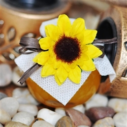 Mini honey Jar decorated with 1 sunflower