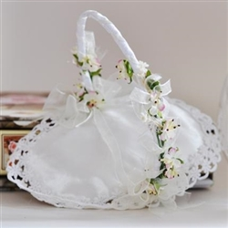 Wedding rings basket with Gentle flowers decoration