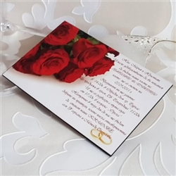 Wedding invitation wooden