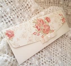 Elegant wedding invitations with flowers