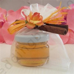 Honey jar with cinnamon stick