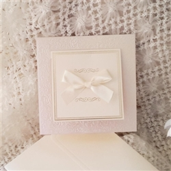Luxurious wedding invitations in champagne color