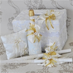 Luxury set of wedding accessories