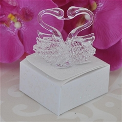 Wedding favor souvenir - Pair of crystal swans