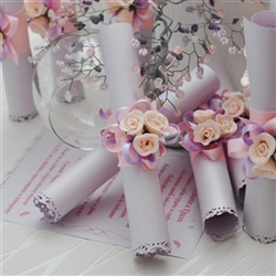 Wedding invitation (Greeting Card) roll in pink