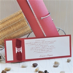 Wedding invitations in red color