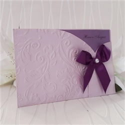 Luxurious, handmade wedding invitation